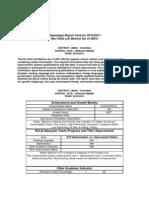 2011 Jms Nclb Report Card