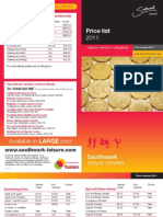 Southwark Price List 2011