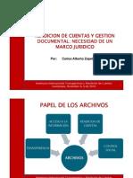 Rendicion de Cuentas y Gestion Documental Dr Carlos Zapata