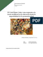 Ensayo 1º, Teorías y Estilos, Gonzalo Cayunao Erices