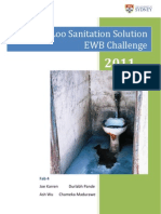 Sustaina-Loo Sanitation Solution EWB Challenge