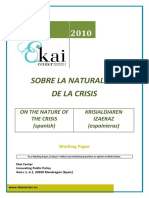 SOBRE LA NATURALEZA DE LA CRISIS - ON THE NATURE OF THE CRISIS (spanish) - KRISIALDIAREN IZAERAZ (espainieraz)
