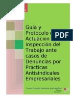 Guia y Protocolo de Actuacion de la Inspeccion del Trabajo ante casos Practicas Antisindicales en el Peru