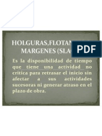 Holguras,Flotantes o Margenes (Slack)
