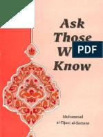 Mohammad Tijani Smaoui - Ask Those Who Know