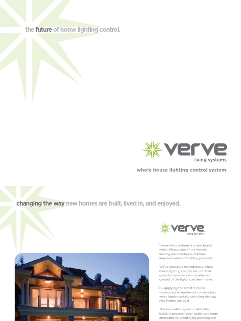 Verve Whole House Lighting Control 10.09 | Lighting | Wireless