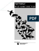Proper Processing of Wild Game and Fish
