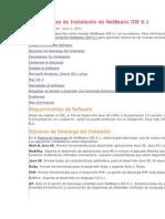 Instrucciones de Instalación de NetBeans IDE 6