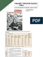 Kurshefte Weimar Wirtschaft Soziales Kultur