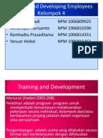 Presentasi Msdm Kelompok 4 Training and Developing