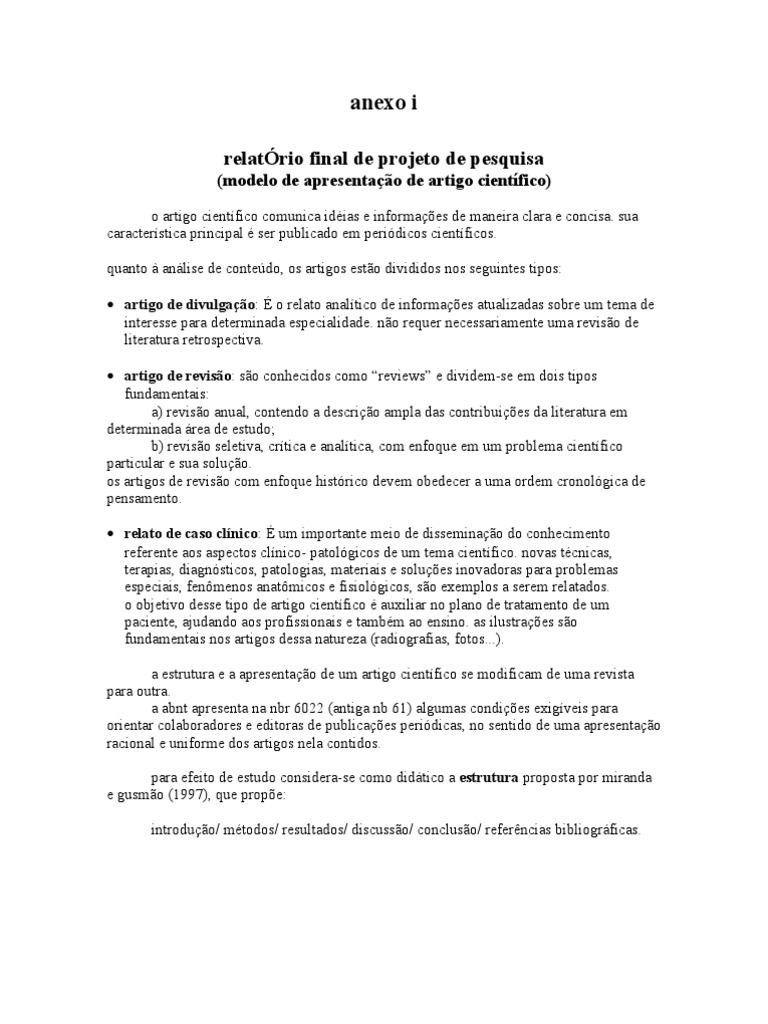 Modelo artigo academico cientifico