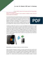 Partager le réseau avec Un Routeur Wifi pour le Samsung Galaxy Nexus