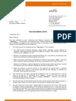 Service Letter - Chadong Socia