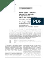 Preeclampsia en Altura Ecuador