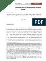 Claus Roxin - O domínio por organização como forma independente de autoria mediata