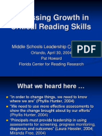 Assessing Growth in Critical Reading Skills