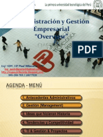 PPT Overview Admin is Trac Ion y Gestion rial