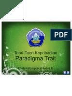 BAB 2 Paradigma Trait Teori-teori Kepribadian