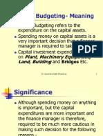 Capital Budgeting