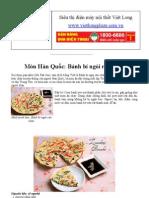 Món Hàn Quốc Bánh bí ngòi rán chảo