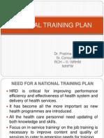 Final Central Training Plan Presentation-13-15th July 2011