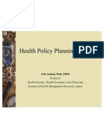 Health Policy Planning in India_2009