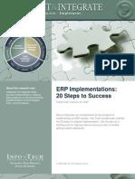 ERP Implementation Steps to Success Deliverables