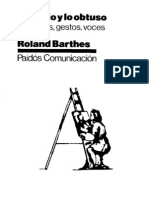 BARTHES, Roland - Lo Obvio y Lo Obtuso