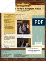 November 21 Honors Newsletter