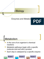 Enzymes and Metabolism
