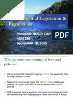 Environmental Legislation Regulations