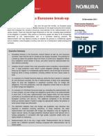 NOMURA NA Currency Risk in a Eurozone Break Up Legal Aspects 18 November 2011_PP