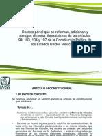 PRESENTACION REFORMAS CONSTITUCIONALES