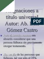 Asignaciones a título universal point-Ab. Luis Gómez Castro