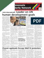 Australia-Venezuela Solidarity Network broadsheet, November 2011
