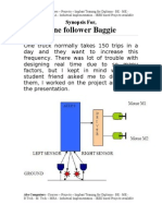 Line follower Baggie - Synopsis - Abs Computers - Courses – Projects – Implant Training for Diploma - BE - ME - B.Tech - M. Tech – MBA - Industrial Implementation - IEEE Projects