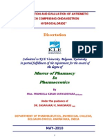 Formulation and Evaluation of Anti Emetic Patch Comprising on Dan Set Ron Hydro Chloride
