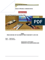 Procedure of Material Procurement and Use (Final)
