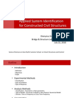 Applied System Identification for Constructed Civil Structures Lecture