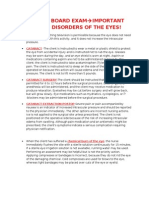 NURSING BOARD EXAM-DISORDERS OF THE EYES! IMPORTANT NOTES!!