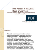 Behavioral Aspects in 'GLOBAL' Retail Environment