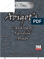 Abigot's Catalog of Fiendish Armor