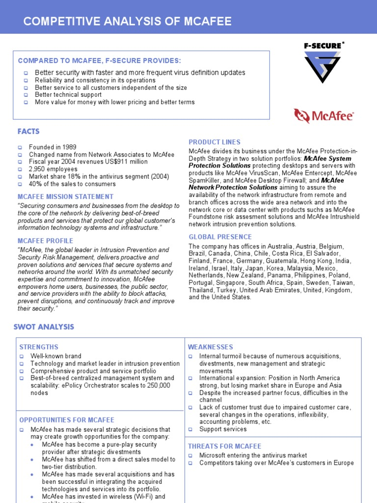 fsecurevmcafee   Antivirus Software   Risk Management