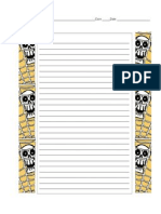 spooky cave writing paper