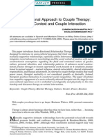 A Socio-Emotional Approach to Couple Therapy