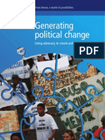 Advocacy to Action Generating Political Change