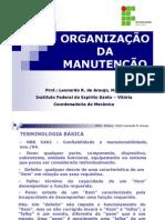 Organização da Manutenção [Modo de Compatibilidade]