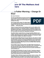 The Abba Father Final Warning Change or Else