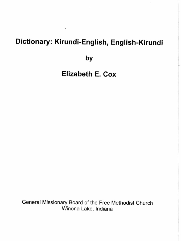 English Kirundi Dictionary | Nature