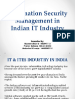 Information Security Management in Indian IT Industry